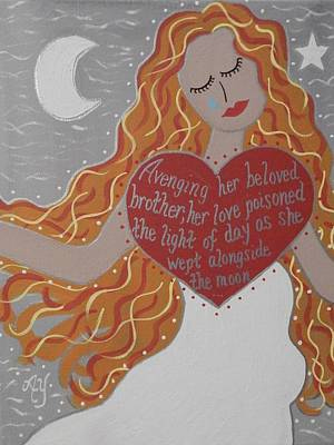 Norse Goddess Painting - Borghild by Angela Yarber