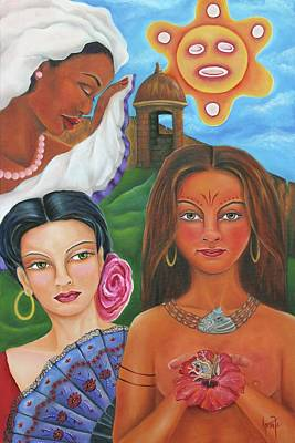 Espanola Painting - Borinquen Roots by Janice Aponte