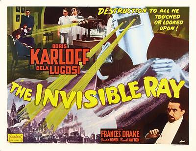 Entertainment Mixed Media - Boris Karloff And Bela Lugosi In The Invisible Ray 1936 by Mountain Dreams