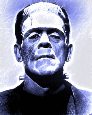 Photograph - Boris Karloff As Frankenstein - 1931 by Doc Braham