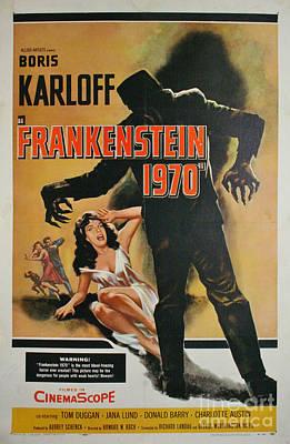 Photograph - Boris Karloff Frankenstein 1970 by R Muirhead Art