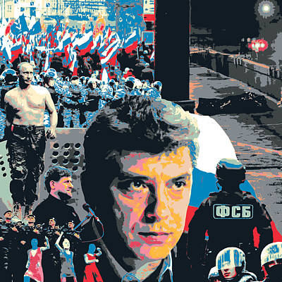 Boris Nemtsov Art Print by Shay Culligan