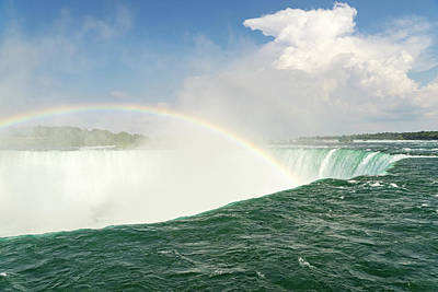 Photograph - Born In The Abyss - Niagara Falls Rainbow by Georgia Mizuleva