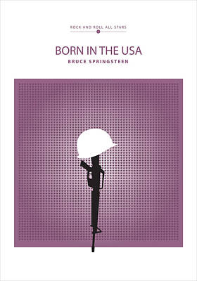 Drawing - Born In The Usa -- Bruce Springsteen by David Davies
