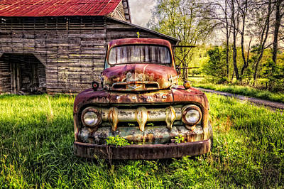 Antique Tow-truck Photograph - Born In The Usa by Debra and Dave Vanderlaan