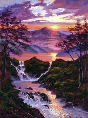 Painting - Born Of Light by David Lloyd Glover