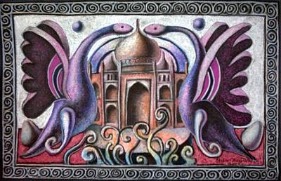 Painting - Born Of Taj Mahal by Chifan Catalin  Alexandru