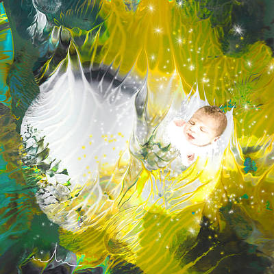 New Born Painting - Born To Be A Star by Miki De Goodaboom