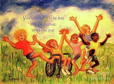 Pastel - Born To Be Free - With Text by Hazel Holland