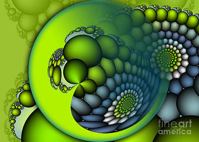 Gradient Digital Art - Born To Be Green by Jutta Maria Pusl