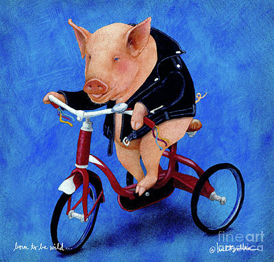 Born To Be Wild... Art Print by Will Bullas
