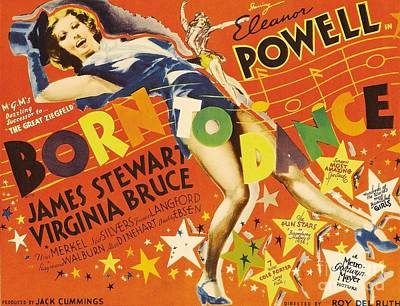 Painting - Born To Dance 1936 Retro Movie Poster by R Muirhead Art