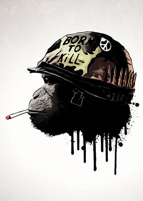 Monkey Digital Art - Born To Kill by Nicklas Gustafsson