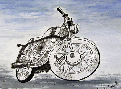 Painting - Born To Ride by Elvira Ingram