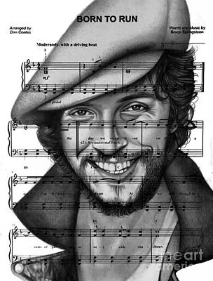 Bruce Springsteen Drawing - Born To Run by Alan Zinn