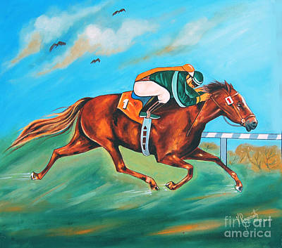 Painting - Born To Run by Ragunath Venkatraman