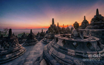 Pyrography Photograph - Borobudur Temple by Andy Maryanto