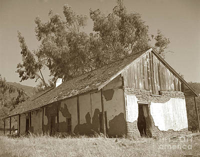 Photograph - Boronda  Adobe In Carmel Valley 1940 by California Views Mr Pat Hathaway Archives