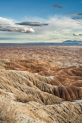 Photograph - Borrego Badlands by Shuwen Wu