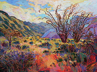 Painting - Borrego In Bloom by Erin Hanson