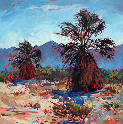 Painting - Borrego Palms by Erin Hanson
