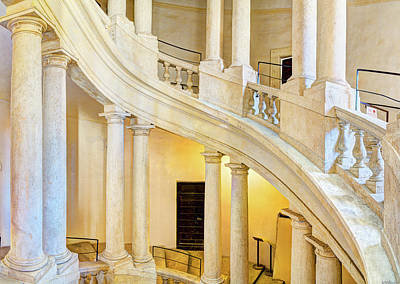 Photograph - Borromini Staircase 4 by Weston Westmoreland