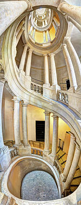 Photograph - Borromini Staircase Full by Weston Westmoreland