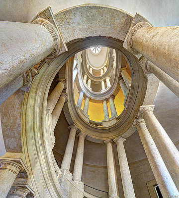 Photograph - Borromini Staircase Short by Weston Westmoreland