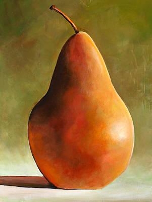 Bosc Pear Print by Toni Grote