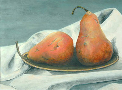 Mixed Media - Bosc Pears by Sandy Clift