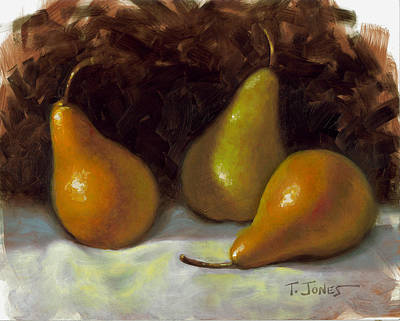 Pears Painting - Bosc Pears by Timothy Jones