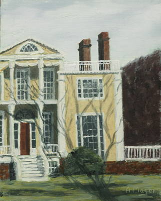 Painting - Boscobel In Winter by Alan Mager
