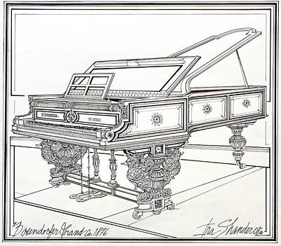 Bosendorfer Grand Piano 1876 Original by Ira Shander