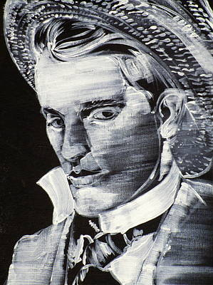 Painting - Bosie - Lord Alfred Douglas - Acrylic Portrait.2 by Fabrizio Cassetta