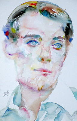 Bosie - Lord Alfred Douglas - Watercolor Portrait Original by Fabrizio Cassetta