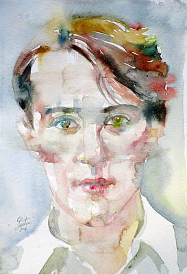 Bosie - Lord Alfred Douglas - Watercolor Portrait.2 Original by Fabrizio Cassetta