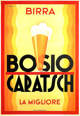 Royalty-Free and Rights-Managed Images - Bosio Caratsch - Vintage Beer Advertising Poster by Studio Grafiikka