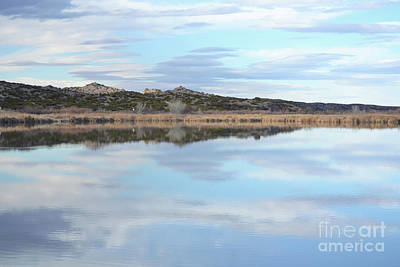 Art Print featuring the photograph Bosque Desert Lake by Andrea Hazel Ihlefeld