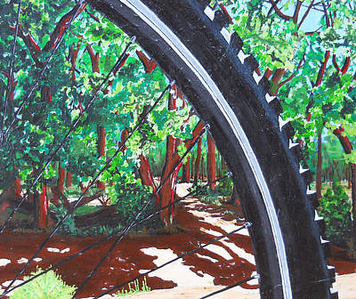Painting - Bosque Singletrack by Susan M Woods