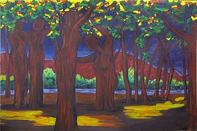 Painting - Bosque Women by Susan M Woods