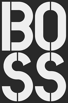 Boss-1 Art Print by Three Dots