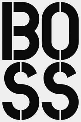 Boss Art Print by Three Dots