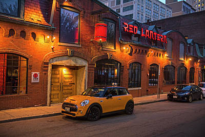 Photograph - Boston Nightlife Stanhope Street Red Lantern Boston Ma by Toby McGuire