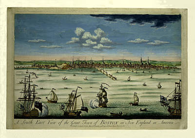 Photograph - Boston 1725 by Andrew Fare