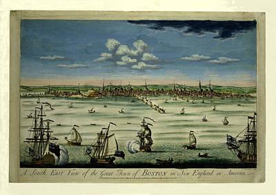Photograph - Boston 1725 by Andrew Fare
