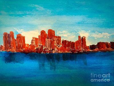 Painting - Boston Abstract by Anne Sands