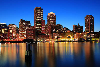 Financial Photograph - Boston Aglow by Rick Berk