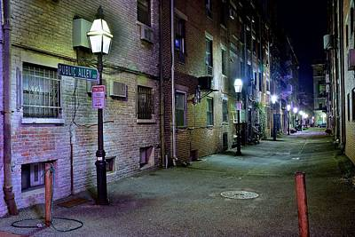 Boston Alleyway Art Print by Frozen in Time Fine Art Photography