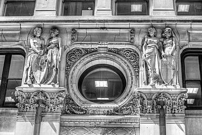 Photograph - Boston Architectural Detail Boston Ma Medical Shields by Toby McGuire