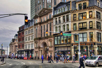 Photograph - Boston Architecture - Lincoln St. by Joann Vitali